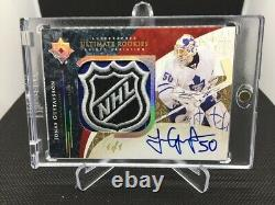 09-10 Upper Deck Jonas Gustavsson Ultimate Rookie Shield Auto 1/1 THE MONSTER