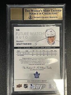 16-17 Sp Authentic Auston Matthews Future Watch Auto 435/999 9.5 Gem Mint