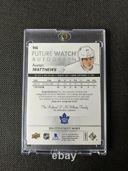 16/17 UD SP Authentic Auston Matthews Future Watch Auto