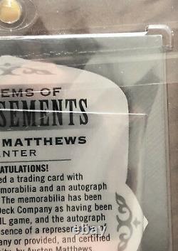 18-19 Ud The Cup Auston Matthews Emblems Of Endorsements Auto Patch