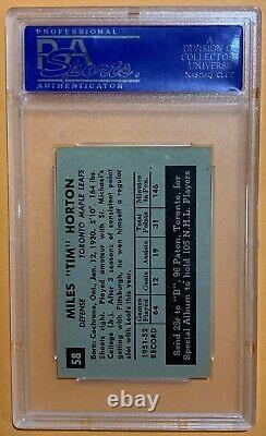1952 Parkhurst #58 Tim Horton Psa 8 Rc Toronto Maple Leafs Vintage Hockey