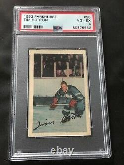1952 Parkhurst TIM HORTON RC PSA 4, Toronto Maple Leafs, No. 58