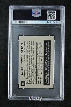 1952 Parkhurst Tim Horton ROOKIE RC #58 PSA 5 EX