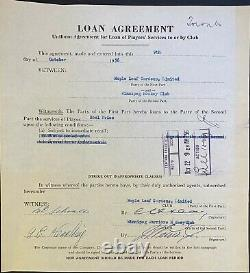1956 NHL Hockey Loan Signed Contract Noel Price Maple Leafs Hap Day Autographed
