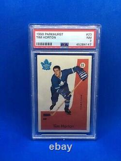 1959 Parkhurst Tim Horton #23 PSA 7 NRMT NM Maple Leafs