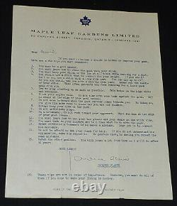 1970-1973 Jacques Plante Toronto Maple Leafs Hockey Player Autograph Original