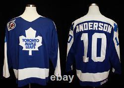 1991-92 Toronto Maple Leafs Glenn Anderson Game Worn Road Jersey - Fletcher LOA