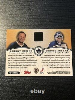 1999-00 Topps Premier Plus Club Signings Curtis Joseph/Johnny Bower Auto Leafs