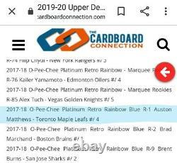 19-20 UD Buybacks OPC Platinum Retro Blue Rainbow Auto /4 RARE Auston Matthews