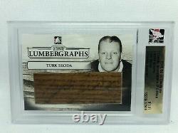 2005/06 ITG Ultimate Memorabilia 6 Lumbergraphs Turk Broda Autograph 1/1 Auto