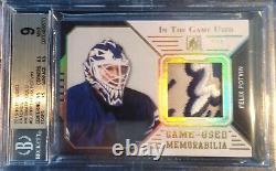 2015 ITG Felix Potvin Game Used Patch 3 Colors Maple Leafs SSP 1/1 BGS 9 Mint