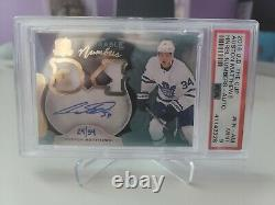 2016-17 Auston Matthews UD The Cup Honorable Numbers Rookie Patch Auto 24/34 PSA