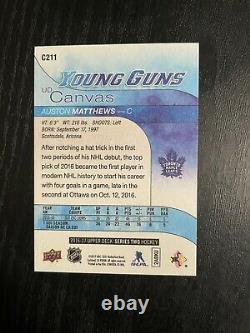2016-17 Auston Matthews Upper Deck Young Guns Canvas Rookie! Mint