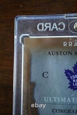 2016-17 UD Ultimate Collection AUSTON MATTHEWS Rookies Auto Retro /49 Leafs