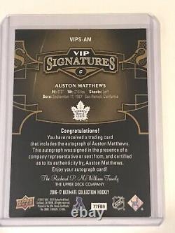 2016-17 Ultimate VIP Signatures Auston Matthews Rookie RC Auto
