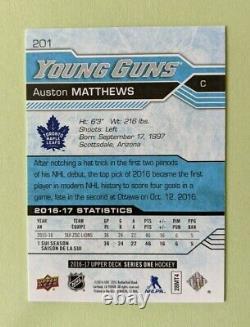 2016-17 Upper Deck Auston Matthews Young Guns Rc
