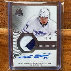 2016-17 Upper Deck The Cup Rookie Patch Auto RPA /99 Auston Matthews RC
