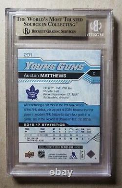 2016-17 Upper Deck Young Guns Auston Matthews Rookie BGS 9.5 Maple Leafs #201 RC