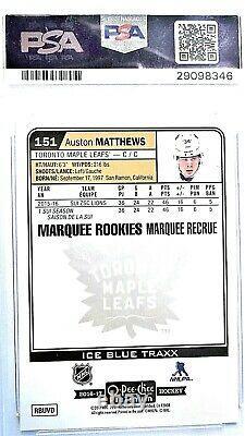 2016 Auston Matthews Platinum Ice Blue Traxx OPC # 151 PSA 10 Marquee Rookie