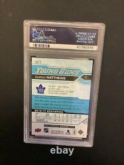 2016 PSA 10 Upper Deck Young Guns Auston Matthews #201 RC Rookie GEM MINT Leafs