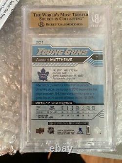 2016 Upper Deck Young Guns Rookie #201 Auston Matthews BGS 9.5 TRUE GEM MINT RC
