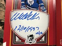 2017-18 Upper Deck The Cup Autograph Ticket Booklet Wendel Clark Numbered # 2/12
