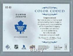 2018-19 The Cup CURTIS JOSEPH Color Coded AUTO 15/22 CC-CJ Toronto Maple Leafs