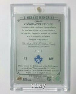 2018-19 UD Chronology GREEN Timeless Memories Canvas Auto #1/10 RARE Tie Domi