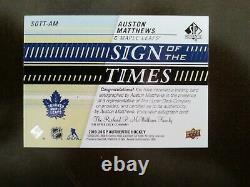 2019-20 SP Authentic Auston Matthews Sign Of The Times Toronto Maple Leafs