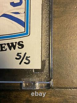 2019-20 UD BuyBacks Auston Matthews Leafs Retro RC Rookie Card Auto /5! PSA