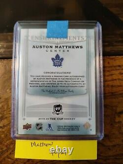 2019-20 UD THE CUP AUSTON MATTHEWS ENSHRINEMENTS 23/25 Auto Toronto Maple Leafs