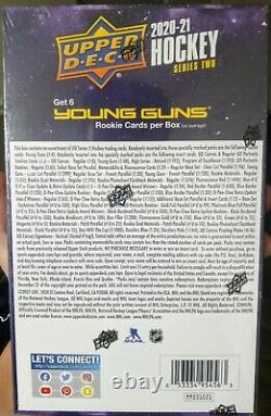 2020-21 UPPER DECK SERIES 2 HOCKEY, Sealed Hobby Box Home of The Young Guns