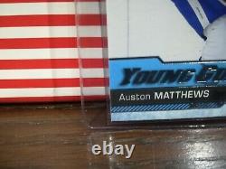 AUSTON MATTHEWS 16-17 Upper Deck Young Guns YG SP RC ROOKIE 201 GEM MINT BGS 9.5