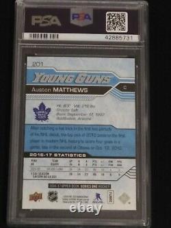 Auston Matthews 2016-17 Upper Deck Young Guns Rookie PSA 10 Gem Mint Maple Leafs