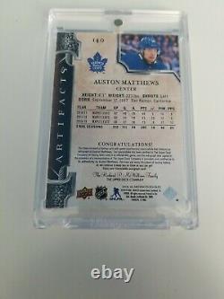 Auston Matthews 2018-19 Artifacts Dual Jersey Auto 6/15, Jersey Patch NICE CARD
