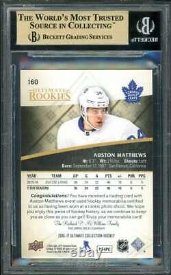 Auston Matthews Card 2016-17 Ultimate Coll Silver #160 BGS 9.5