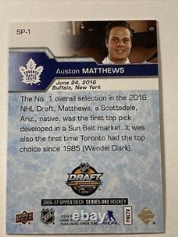 Auston Matthews Rc 2016-17 UD 1st Overall Draft Rookie SP-1 Toronto Maple Leafs