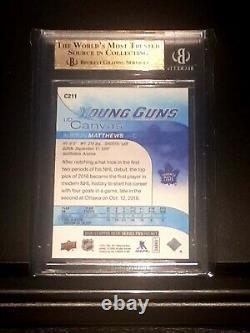 Auston Matthews Young Guns BGS 10 w 3 Sub 10s (PSA 10 / Black Label!) CANVAS-SP