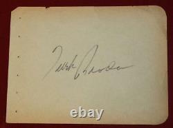 Beautiful 1940's Turk Broda Toronto Maple Leafs Goalie Signed Full Album Page