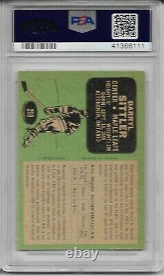 Darryl Sittler 1970 O-Pee-Chee Rookie Card Toronto Maple Leafs PSA Graded 8