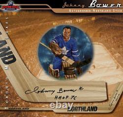 JOHNNY BOWER Signed Northland Goalie Stick Toronto Maple Leafs