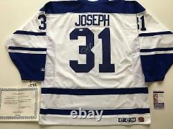 Maple Leafs Curtis Joseph Signed Jersey NWT CCM XL made in Canada JSA COA