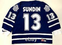 Mats Sundin 1999 Final Season Patch Toronto Maple Leafs Nike Jersey Extra Large