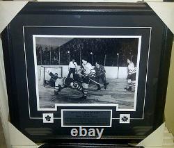 Rare Bill Barilko Toronto Maple Leafs Cup Goal Framed Photo Vintage 21x23