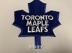 Vintage Toronto Maple Leafs Belfour Jersey Sweater Shirt Ccm White L Large Nhl